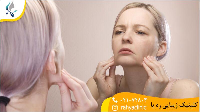 چرا پوست صورت شل و افتاده می شود